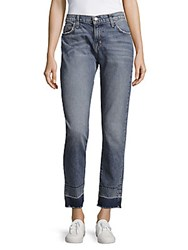 Current Elliott The Fling Faded Whiskered Jeans Blue