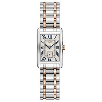 Longines L52555717 Women's Dolce Vita Bracelet Strap Watch Silver Rose Gold