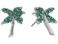 Marc Jacobs Charms Tropical Strass Palm Tree Studs Earrings Green Multi