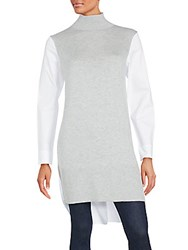 French Connection Long Sleeve Hi Lo Tunic Light Grey