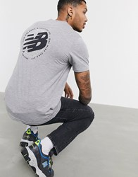 New Balance Wild Pack T Shirt With Backprint In Grey