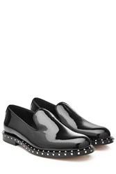Valentino Studded Patent Leather Loafers