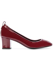 Lanvin Block Heel Pumps Women Leather Patent Leather 38.5 Red