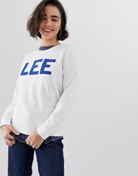 Lee Logo Sweatshirt White