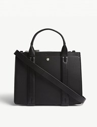 Theory West Mini Leather Tote Black