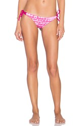 Bettinis Multi Strap Tie Side Bikini Bottom Pink