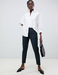 Selected Femme Pinstripe Tailored Trouser Green