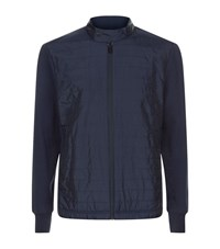 Michael Kors Quilted Front Nylon Jacket Male Navy