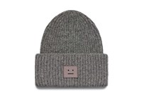 Acne Studios Grey Oversized Pansy Wool Beanie