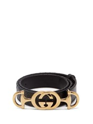 Gucci Horsebit Buckle Quilted Leather Belt Black