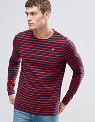G Star Prebase Breton Stripe Top Long Sleeve Sartho Blue Flame Ao