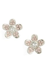 Marc Jacobs Women's Coin Flower Stud Earrings Silver