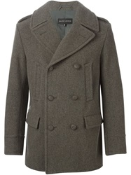 Ralph Lauren Black Label Ralph Lauren Black Military Style Short Coat Grey
