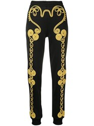 Moschino Embroidered Track Pants Black