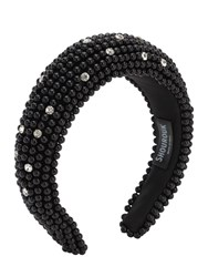 Shourouk Clotilde Embellished Headband Black