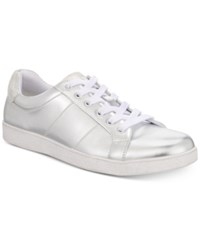 Inc International Concepts I.N.C. Orion Metallic Low Top Sneakers Created For Macy's Shoes Silver