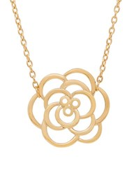 Lord And Taylor 14K Yellow Gold Flower Pendant Necklace