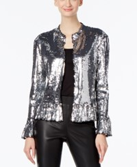 Inc International Concepts Sequined Jacket Only At Macy's Silver