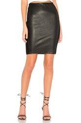 Bailey 44 Tolstoy Eco Leather Pencil Skirt Black