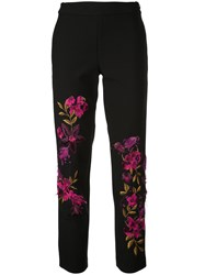 Josie Natori Floral Embroidered Trousers 60
