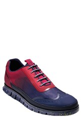 Men's Cole Haan 'Zerogrand' Wingtip Sneaker Poppy