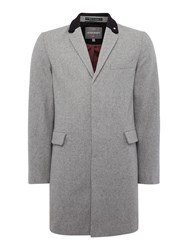 Peter Werth Cropley Trojan London Button Overcoat Grey