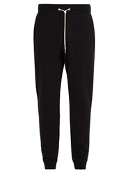 Rag And Bone Cotton Jersey Track Pants Black