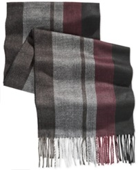 Alfani Red Striped Scarf Only At Macy's Wine