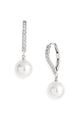 Mikimoto Diamond And Akoya Cultured Pearl Earrings White Gold