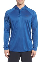 Under Armour Men's 'Ua Tech' Long Sleeve Hooded Henley Heron