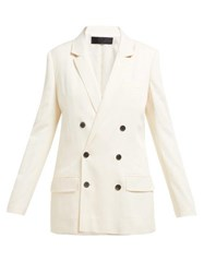 Haider Ackermann Double Breasted Twill Blazer Cream