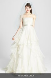 Watters Brooke Washed Silk Organza Ballgown