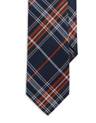 Burma Bibas Plaid Silk Tie Rust