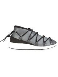 Y 3 Lace Up Wedge Sneakers Black