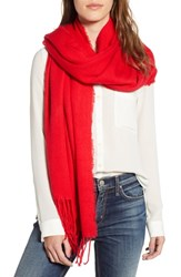 Trouve Solid Scarf Red Chinoise