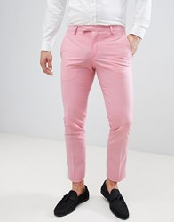 Noose And Monkey Super Skinny Suit Trousers In Pink