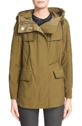 Women's Burberry Brit 'Parkfield' Hooded Drawstring Waist Jacket