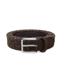Andersons Anderson's Woven Marl Suede Trim Belt Brown