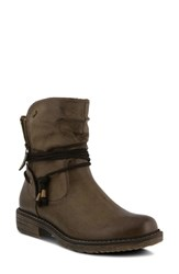 Spring Step Kathie Bootie Taupe Faux Leather