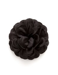 Hook Albert Lapel Flower Pin Black