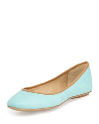 Ash Instinct Leather Ballet Flat Turquoise
