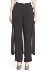Adam By Adam Lippes Women's Satin Crepe Tux Pants With Pleated Skirt Overlay