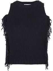 3.1 Phillip Lim Knitted Tank Top Blue
