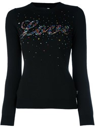 Love Moschino Star Studded Jumper Black