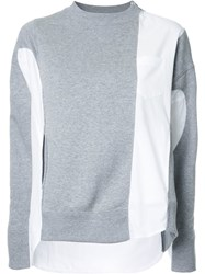 Sacai Deconstructed Sweatshirt Grey