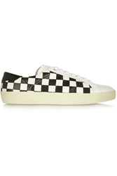 Saint Laurent Checkered Leather Sneakers