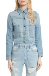 Frame Women's Le Patchwork Released Hem Denim Jacket Shephard