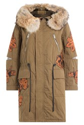 3.1 Phillip Lim Quilted Cotton Utility Coat Green