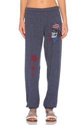 Lauren Moshi Tanzy Color Skull Helmet Sweatpant Blue