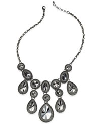 Styleandco. Style And Co. Hematite Tone Teardrop Stone Frontal Necklace Only At Macy's